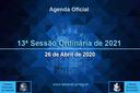 13ª Sessão Ordinária 2021 - 26/04/2021