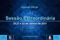 1ª Sessão Extraordinária 2021