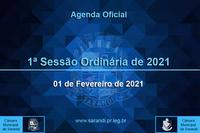 1ª Sessão Ordinária 2021 - 01/02/2021