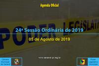 24ª Sessão Ordinária 2019