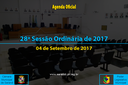 28ª Sessão Ordinária de 2017 - 04/09/2017