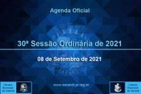 30ª Sessão Ordinária 2021 - 08/09/2021