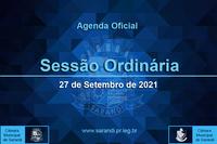 33ª Sessão Ordinária 2021 - 27/09/2021
