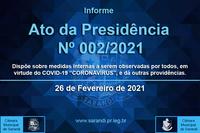 Ato da Mesa nº 02/2021 - Medidas Covid 19