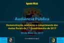 Audiência Pública de 30 de Maio de 2017