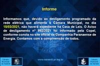 Informe - Expediente de 15/03/2021