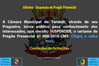 Informe - Suspensão de Pregão Presencial