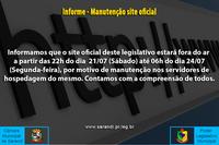 Manutenção do site oficial