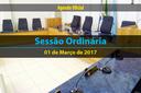 Pauta da Sessão Ordinária de 01/03/2017