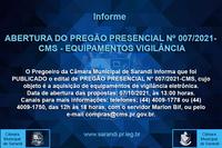 PREGÃO PRESENCIAL Nº 007/2021 - CMS