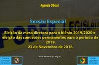 Sessão Especial de 22 de Novembro de 2018.