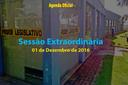 Sessão Extraordinária de 01/12/2016