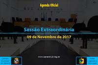 Sessão Extraordinária de 09/11/2017