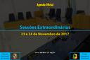 Sessões Extraordinárias de 23 e 24 Novembro de 2017