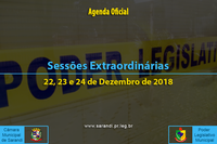 Sessões Extraordinárias de 22, 23 e 24 de Dezembro de 2018.