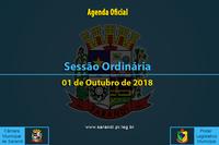 Sessão Ordinária de 01 de Outubro de 2018.