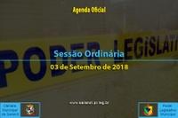 Sessão Ordinária de 03 de Setembro de 2018.