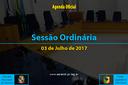Sessão Ordinária de 03 Julho de 2017