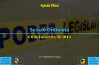 Sessão Ordinária de 04 de Fevereiro de 2019