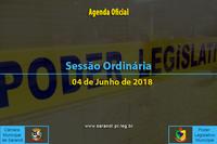 Sessão Ordinária de 04 de Junho de 2018.