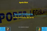 Sessão Ordinária de 05 de Fevereiro de 2018