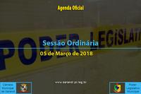 Sessão Ordinária de 05 de Março de 2018