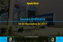 Sessão Ordinária de 06/11/2017