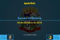 Sessão Ordinária de 08 de Outubro de 2018.