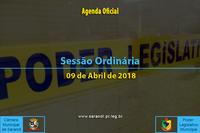 Sessão Ordinária de 09 de Abril de 2018