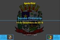Sessão Ordinária de 10 de Dezembro de 2018.