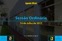 Sessão Ordinária de 10 Julho de 2017