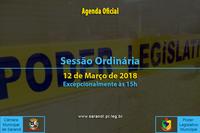 Sessão Ordinária de 12 de Março de 2018