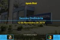 Sessão Ordinária de 12 de Novembro de 2018.