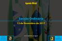 Sessão Ordinária de 13/11/2017