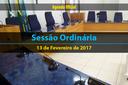 Sessão Ordinária de 13 de Fevereiro de 2017