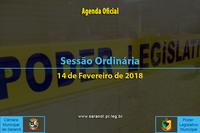 Sessão Ordinária de 14 de Fevereiro de 2018