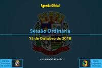 Sessão Ordinária de 15 de Outubro de 2018.