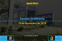 Sessão Ordinária de 19 de Novembro de 2018.