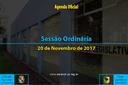 Sessão Ordinária de 20/11/2017