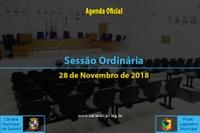 Sessão Ordinária de 28 de Novembro de 2018.