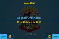 Sessão Ordinária de 29 de Outubro de 2018.