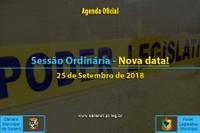 Sessão Ordinária - Nova data
