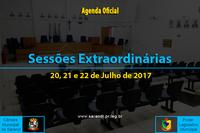 Sessões extraordinárias de 20, 21 e 22 de Julho de 2017