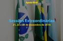 Sessões Extraordinárias de 21, 22 e 23 de Dezembro