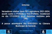 Vereadores eleitos para 10ª Legislatura 2021-2024